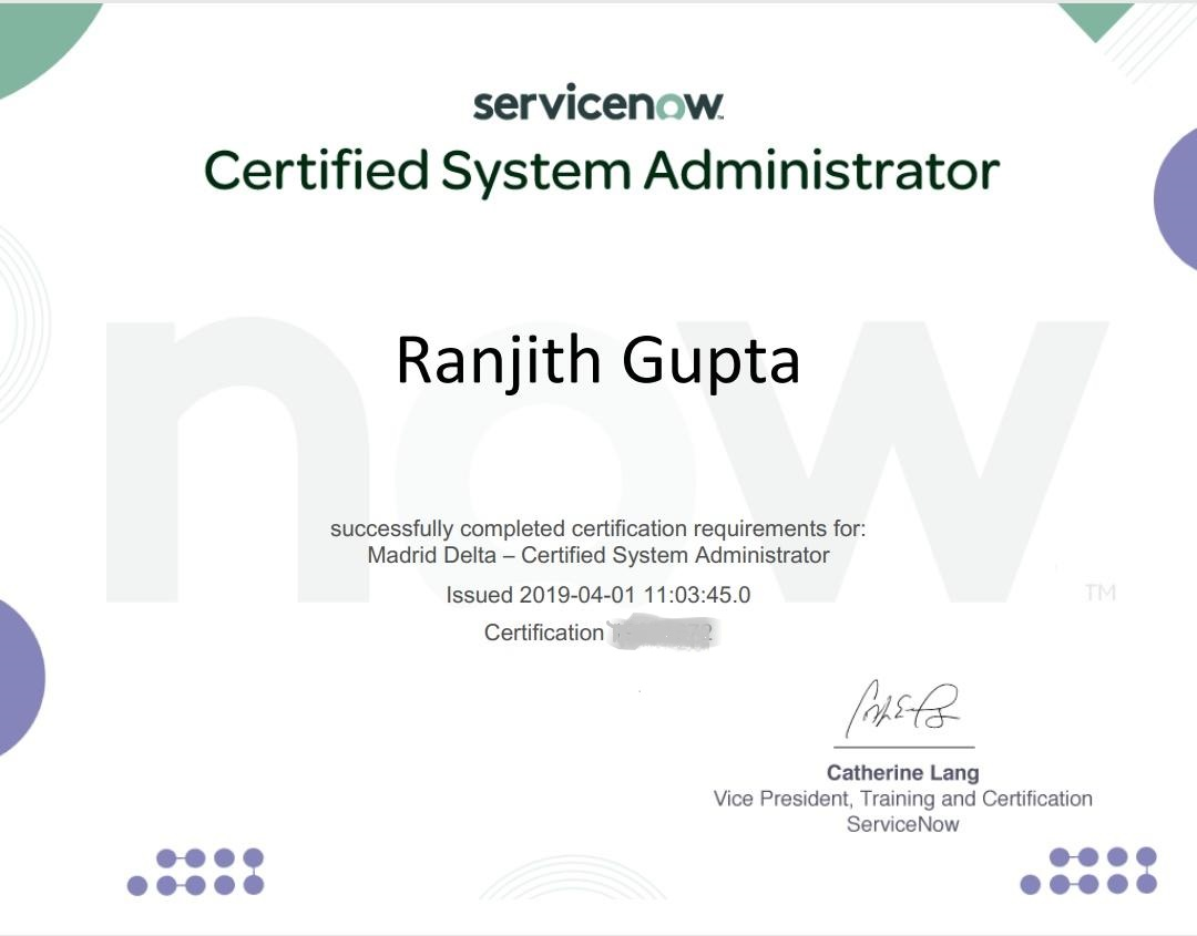 Certified System Administrator